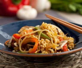 Azjatycki ryż z warzywami