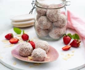 Kuleczki kokosowo-truskawkowe bez cukru