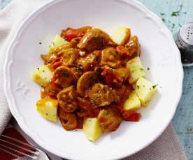 Rindfleisch Stroganoff mit Kartoffeln