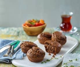 Zeytinli Peynirli Muffin