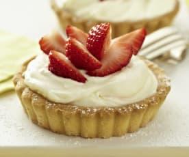 Erdbeer-Quark-Tartelettes