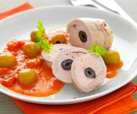 Popietas de ternera con aceitunas (Paupiettes de veau aux olives)