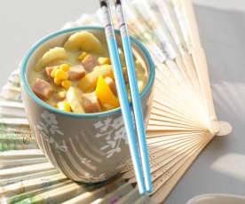 Bananen-Curry-Reis