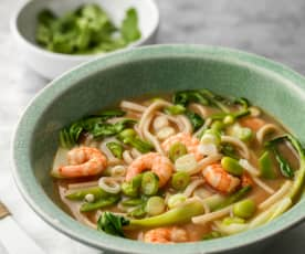 Prawn and Miso Noodle Soup