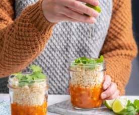 Curry z ciecierzycy i kasza bulgur