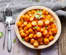 Poêlée de carottes au beurre de coriandre