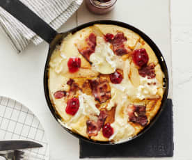 Pikanter Birnen-Camembert-Pfannkuchen