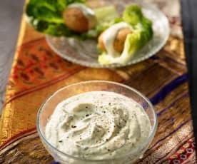 Tahin-Joghurt-Dip - Yoğurtlu Tahin Soslu