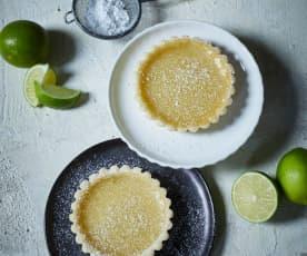 Vegane Limetten-Tartelettes