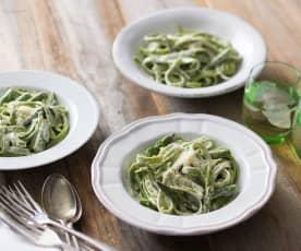 Gluten free spinach and lemon pasta