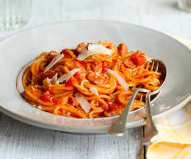 Tomato and Bacon Spaghetti