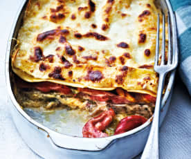 Lasagne de veau aux légumes grillés
