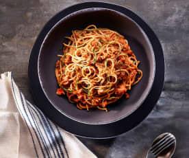 Kıymalı Domates Soslu Tam Buğday Spagetti