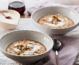 Spiced carrot porridge