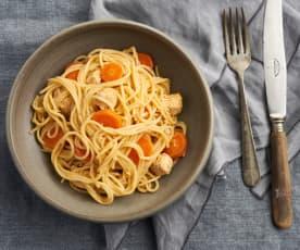 Esparguete com frango