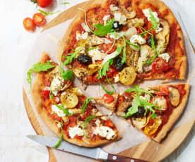 Pizza quatre saisons au chèvre