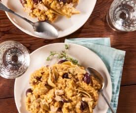 Brown Rice Risotto with Tuna and Artichokes