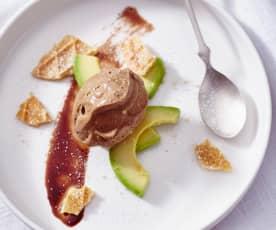Schokoladen-Avocado-Eis