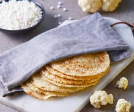 Tortillas de coliflor