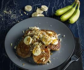 Pancakes épeautre-sarrasin-banane