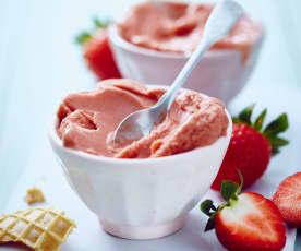 Erdbeer-Balsamico-Eis