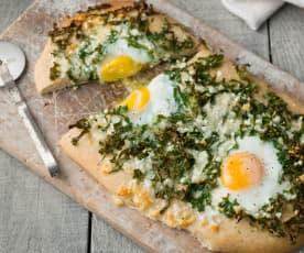 Florentine-style Spelt Pizza - Pizza fiorentina con farina di farro