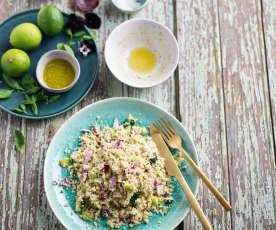 Salada de quinoa e favas