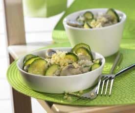 Zucchini-Reis-Topf