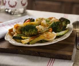 Verduras baby en escabeche de tomate