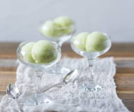 Avocado sorbet (palate cleanser)
