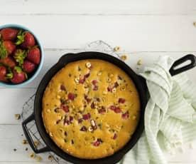 Hazelnut Strawberry Skillet Cake