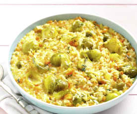 Carrot and Brussels Sprouts Risotto