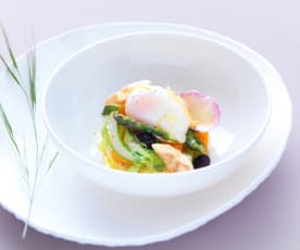 L'œuf cuisson parfaite et ses asperges de Provence - Sebastien Richard