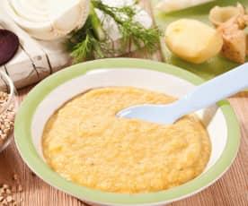 Grundrezept Gemüse-Kartoffel-Fleisch-Brei (am Ende des 1. Lebensjahres)