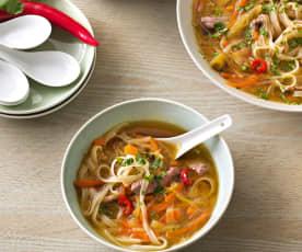 Sopa vietnamita sin gluten