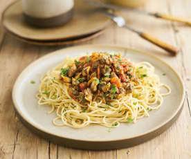 Esparguete com berbigão