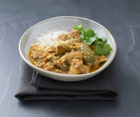 Chicken and feijoa curry