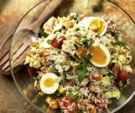 Rice Salad with Eggs and Tuna Fish