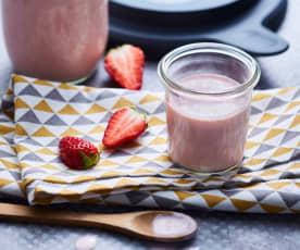 Lassi fraises et rhubarbe