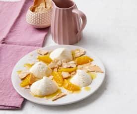 Zitronen-Joghurt-Mousse mit Spekulatiushippen