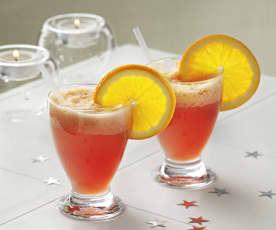 Cóctel de arándano y naranja sin alcohol