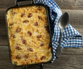 Spicy Sausage Macaroni and Cheese