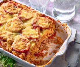 Zapiekanka makaronowa z tuńczykiem i pomidorami