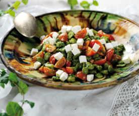 Salada fria de favas
