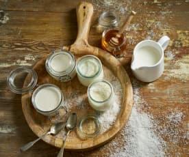 Iogurte de coco e mel