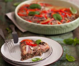 Mizza (pizza na mięsnym spodzie)