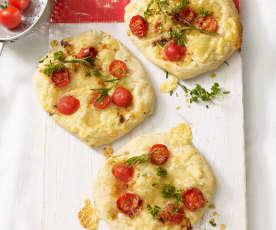 Mini-Pizzen mit Kräutern