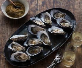 Shichimi togarashi oysters