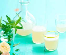 Ice tea de limão e lúcia-lima