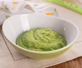 Bouillie de riz complet au brocoli et à la viande de dinde